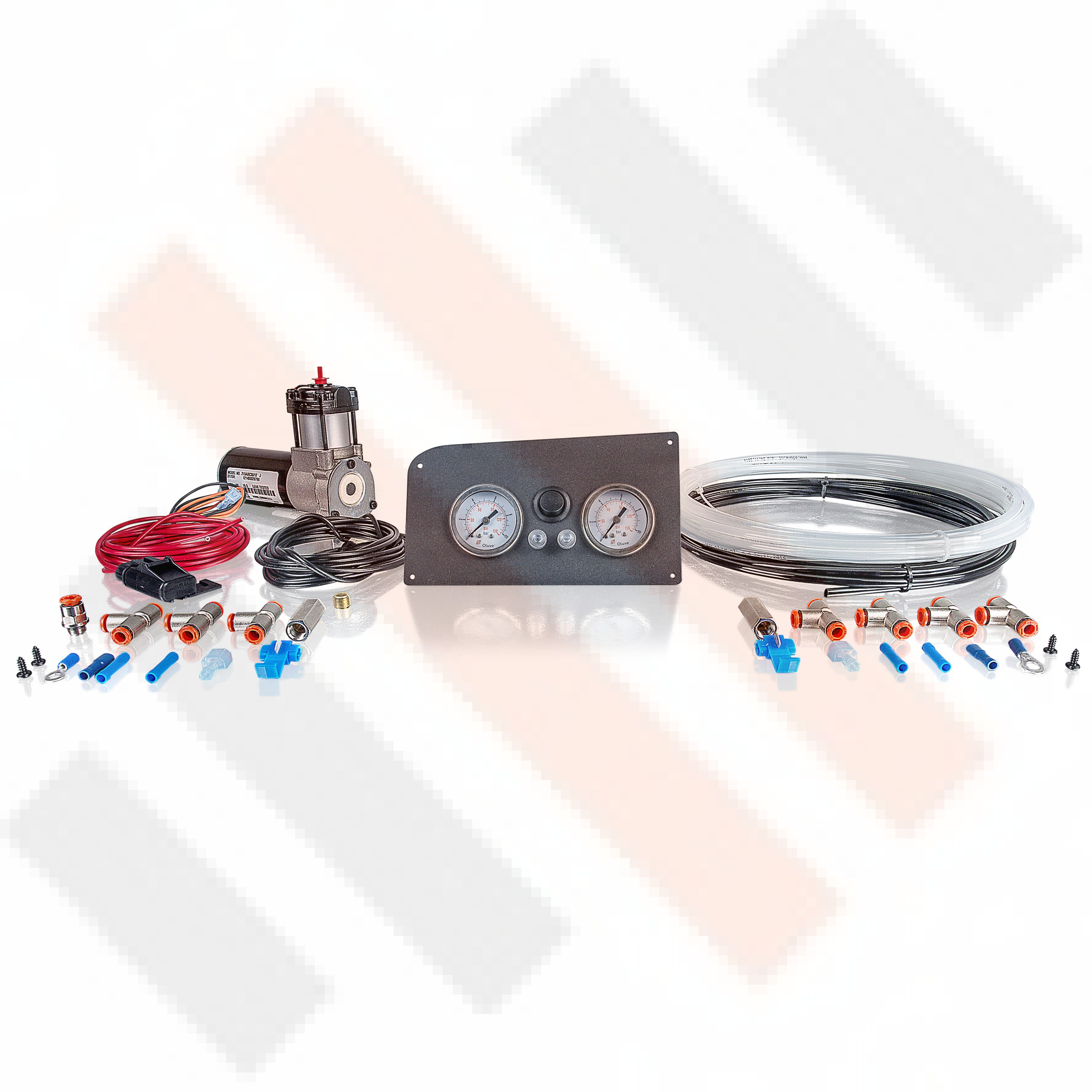 Compressor Kit Thomas 215 | matte grey Fiat Ducato X244 gauge dashpanel with double pressure gauge