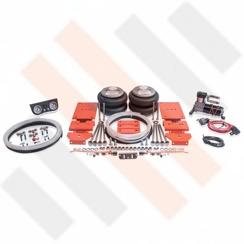 "Comfort Semi air suspension and compressorset kit for a Peugeot Boxer X250 (2006- ) with 8"" leafsprings, no AL-KO chassis, no all-wheel drive models. The air helper springs can be installed on most light commercial vehicles, motorhomes and SUV's.   Only f"
