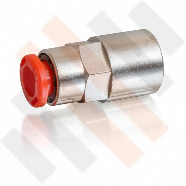 Straight Push-in Air Flow connector with Internal Thread 6mm | Semi-airsuspension