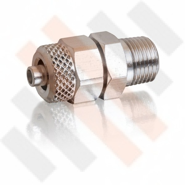 Straight Push-on Air Flow Connector with Conical Thread 8mm | Semi-airsuspension