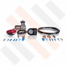 Compressor kit Thomas 215 | shiny black gauge dashpanel with one pressure gauge