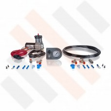 Compressor Kit Thomas 215 | matt grey gauge dashpanel with one pressure gauge