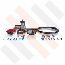 Compressor Kit Thomas 215 | shiny walnut color gauge dashpanel with one pressure gauge