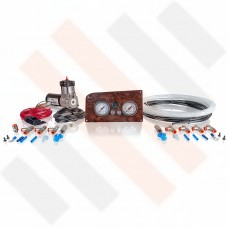 Compressor kit Thomas 215 | Matte Walnut Fiat Ducato X244 gauge dashpanel with double pressure gauge