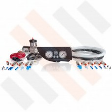 Compressor Kit Thomas 215 | Carbon-look Fiat Ducato | Citroën Jumper | Peugeot Boxer X250 gauge dashpanel with double pressure gauge