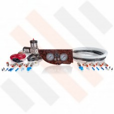 Compressor Kit Thomas 215 Matte Walnut Fiat Ducato | Citroën Jumper | Peugeot Boxer X250 gauge dashpanel with double pressure gauge
