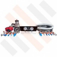 Compressor Kit Thomas 215 | Shiny Renault Master X62 gauge dashpanel with double pressure gauge