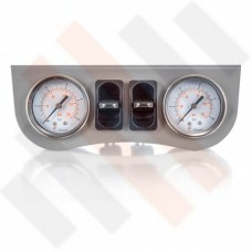 Gauge Dashpanel Ø 40 mm 2-way system Grey